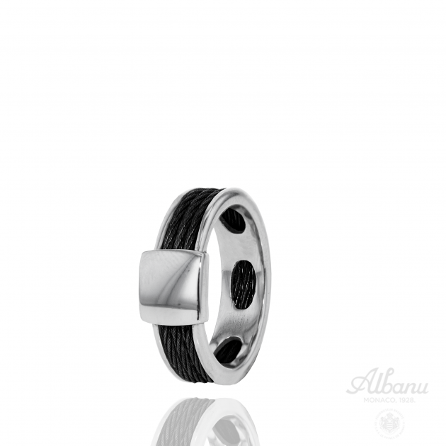 Black Cable Ring