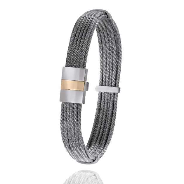 FERMOIR 604P/2 OR 0.24GRS BRACELET CABLE