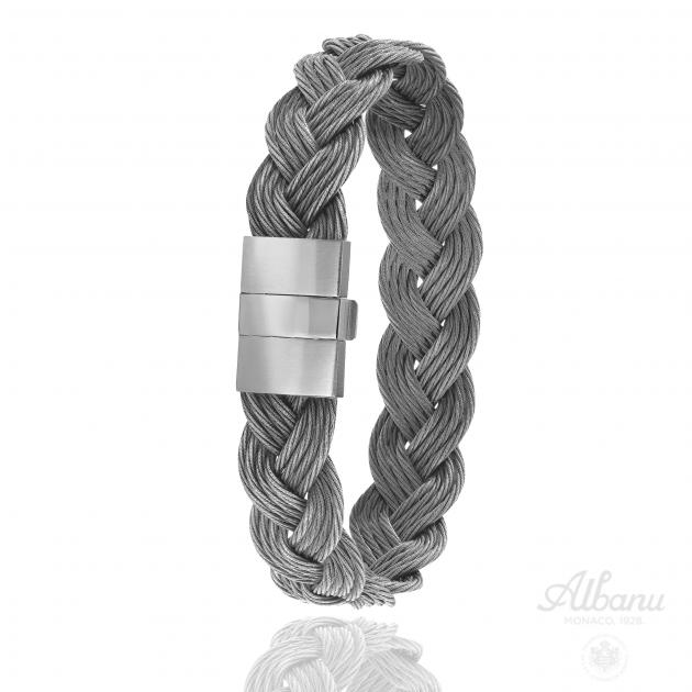 FERMOIR 604 ACIER BRACELET TRESSE CABLE