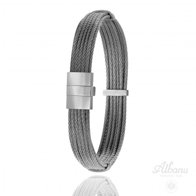 FERMOIR 604P ACIER BRACELET CABLE MULTI