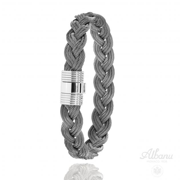 FERMOIR 606 ACIER BRACELET TRESSE CABLE