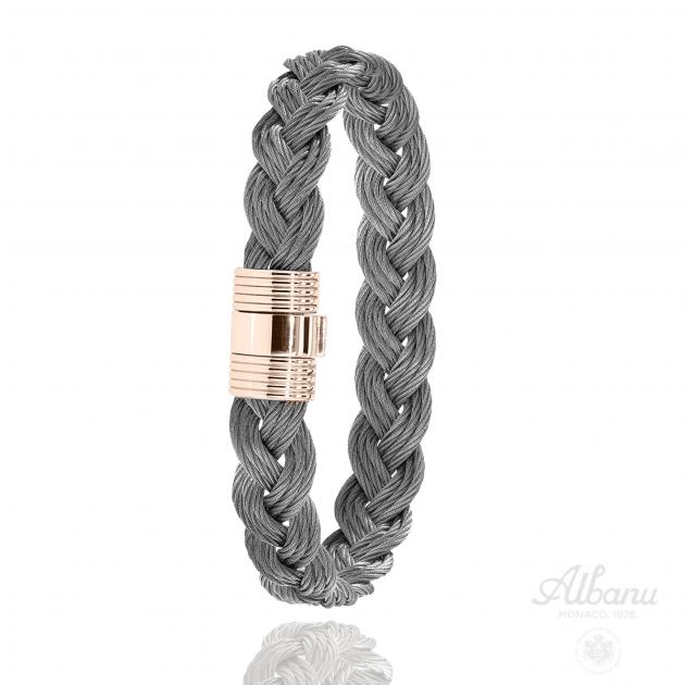 Bracelet Aiguillots Acier Rose