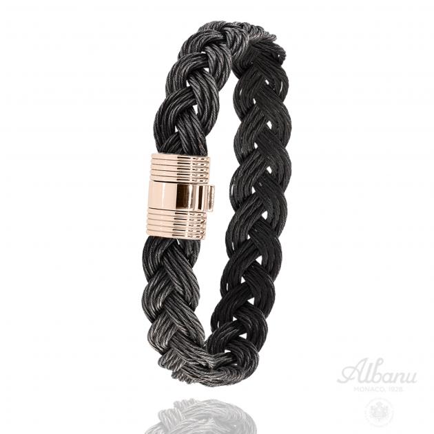 Bracelet Lest Black and Pink Steel