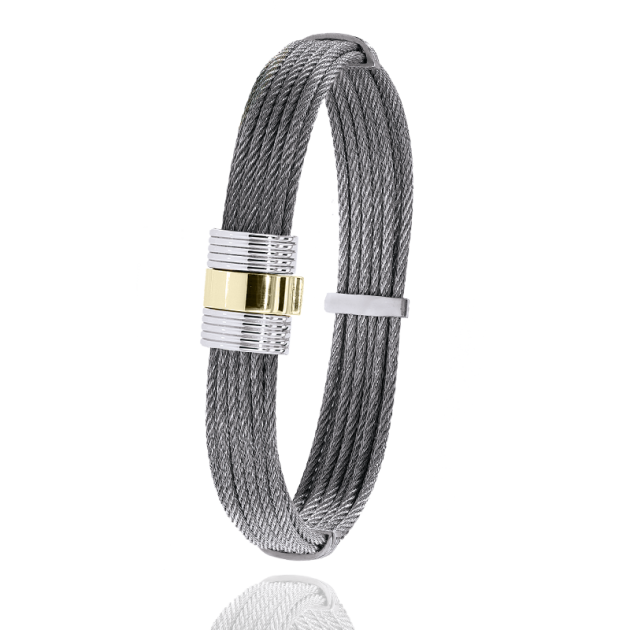 FERMOIR 607 OR 0.45GRS BRACELET TRESSE CABLE