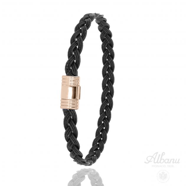 Bracelet Tribord Black and Pink Steel