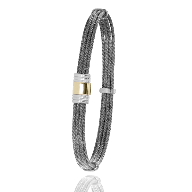 FERMOIR 614 OR 0.30GRS BRACELETMULTI FILS CABLE