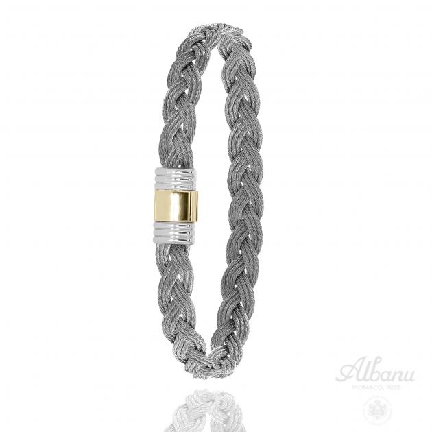 FERMOIR 614 OR 0.30GRS BRACELET TRESSE CABLE
