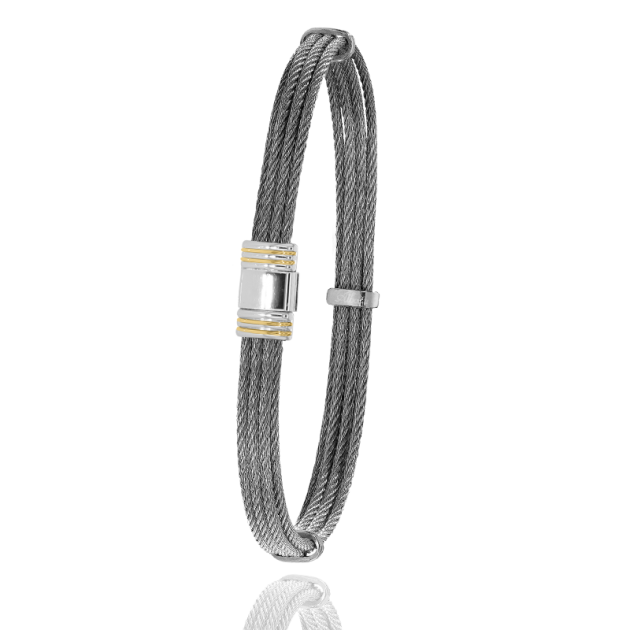 FERMOIR 615 OR 0.12GRS + ACIER BRACELET MULTI CABLE