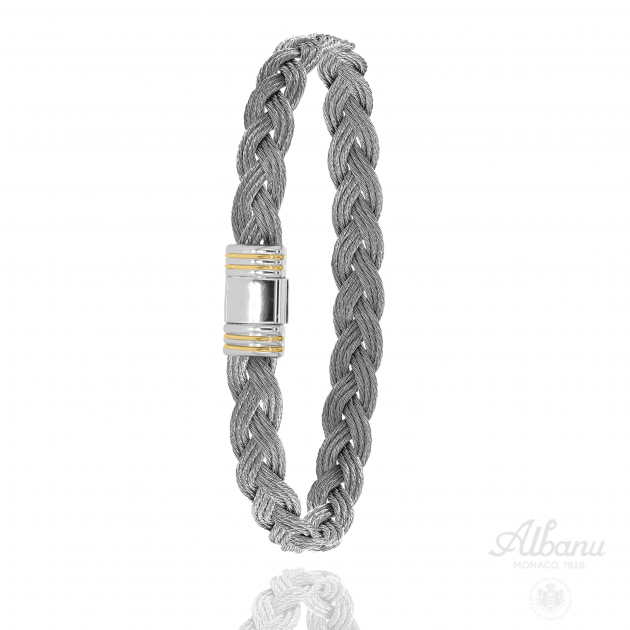 FERMOIR 615 OR 0.12GR BRACELET TRESSE CABLE