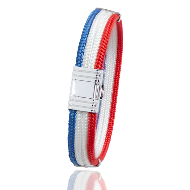 Albanu Bracelet  in blue white red marine cord