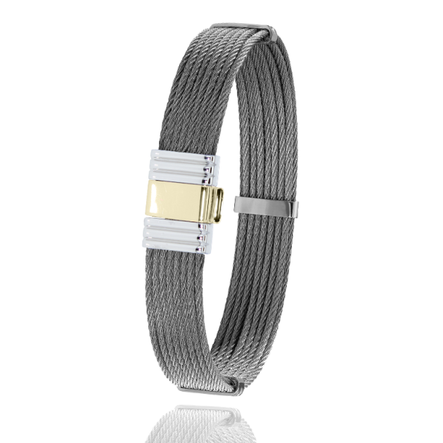 FERMOIR 699 OR 0.5GR + ACIER BRACELET MULTI CABLE