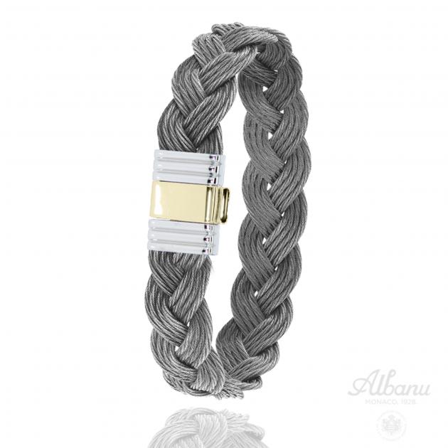 FERMOIR 699 ACIER + OR 0.5GR TRESSE CABLE