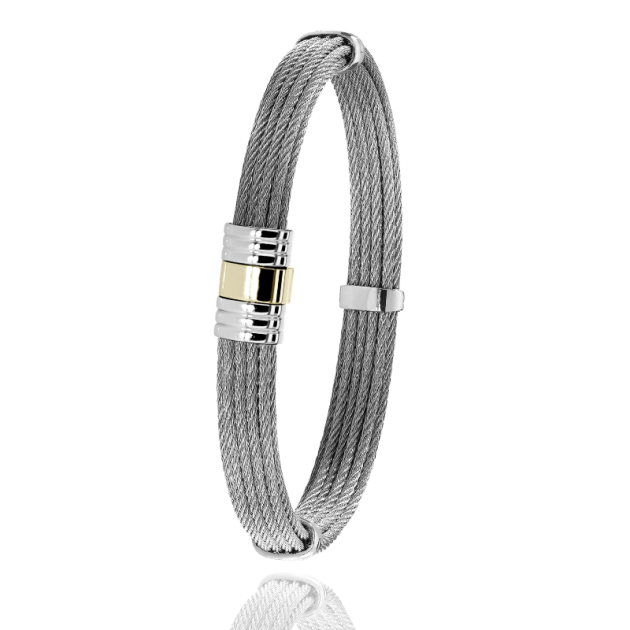 FERMOIR 703 OR 0.40GR BRACELET MULTI CABLE ROND