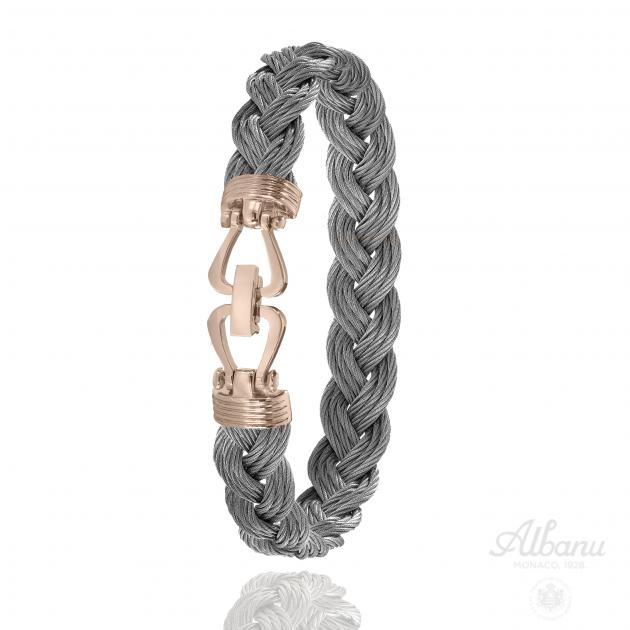 Bracelet Allure Tressé Acier Rose