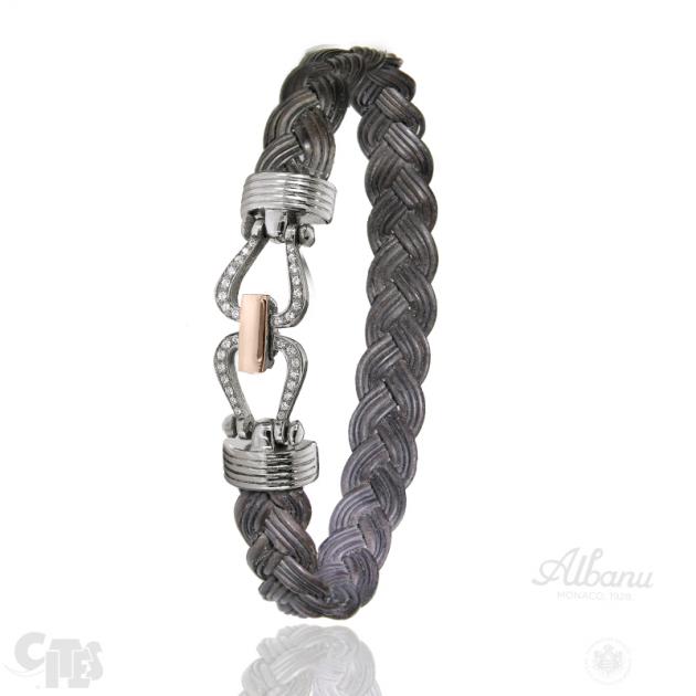 Bracelet Maloti Tressé Diamants