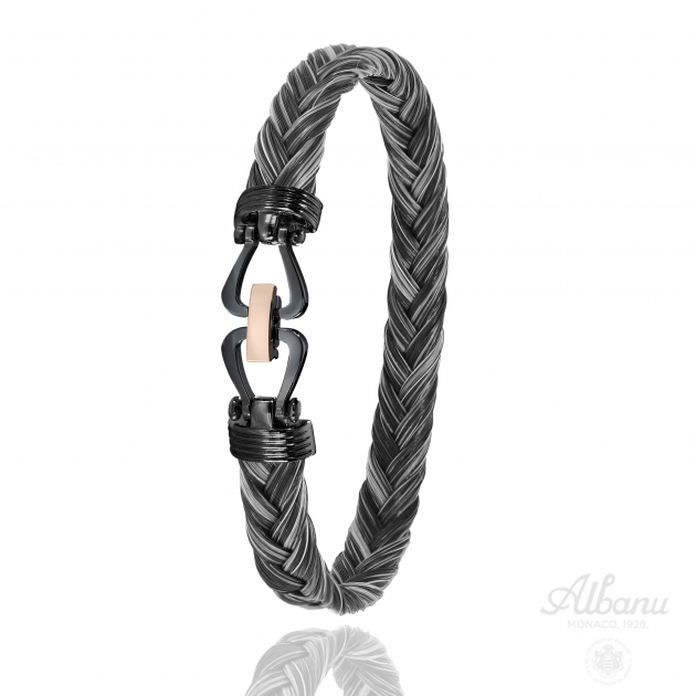 Bracelet Boerperd Noir Or