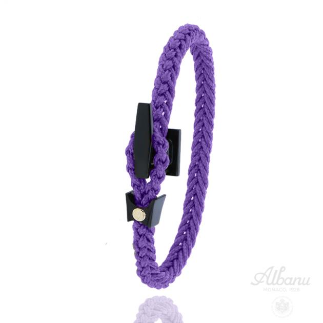 Bracelet Taquet Noir Pastille Or